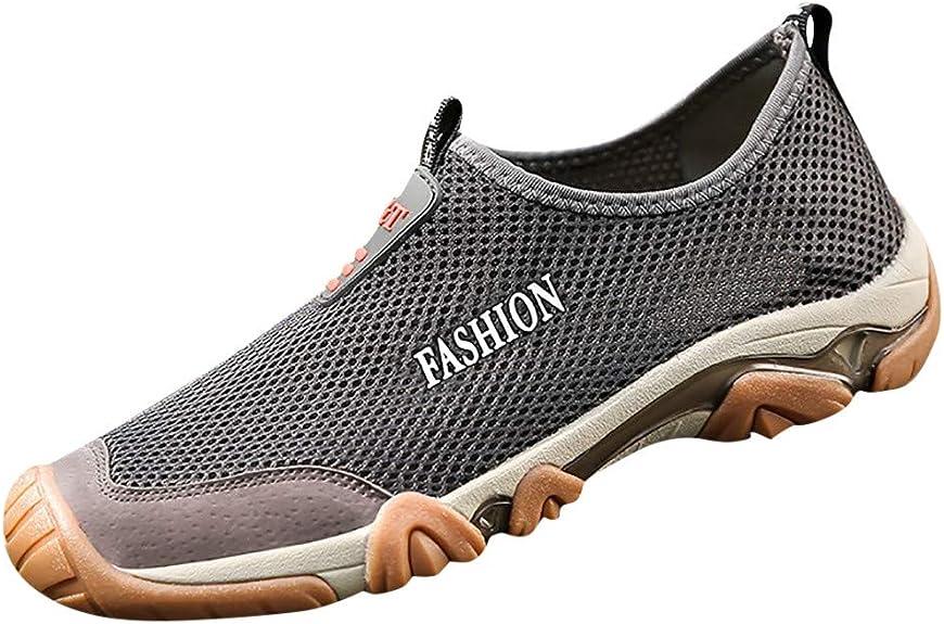 Schuhe Ohne Schnürsenkel Herren Trekking Mesh Atmungsaktive
