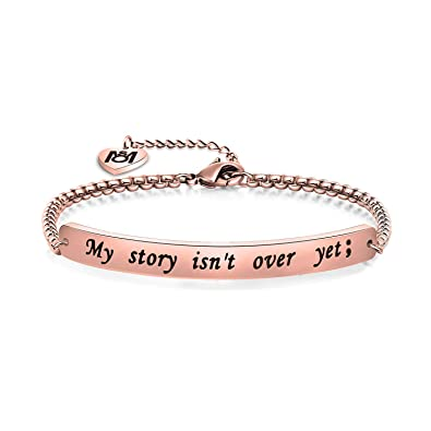 My Story Isn/'t Over Yet Bangle Bracelet Jewellery Gold or Silver Gift
