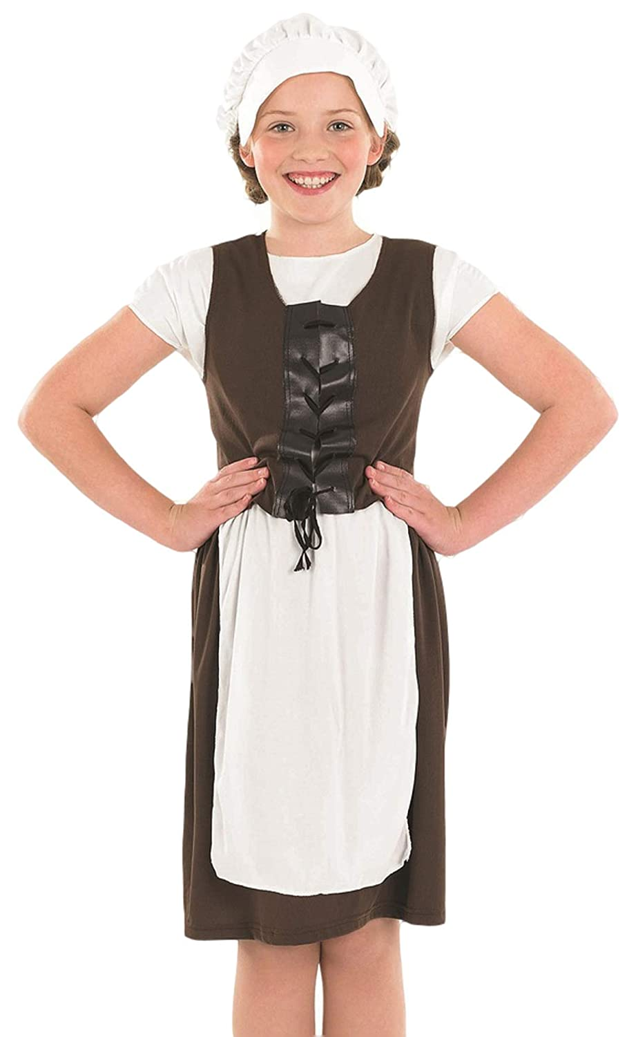 Girls Victorian Fancy Dress Poor Maid Book Day Week Kids Childrens Child Costume
