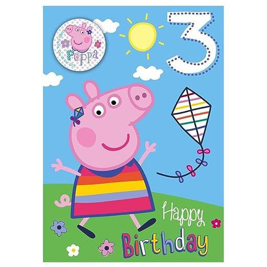 Nuevo Peppa Pig Edad 3/3rd Tarjeta de cumpleaños con ...