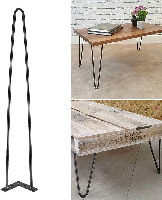 4 Varillas Pies para Mesa, Horquilla Patas DIY Muebles Estilo ...