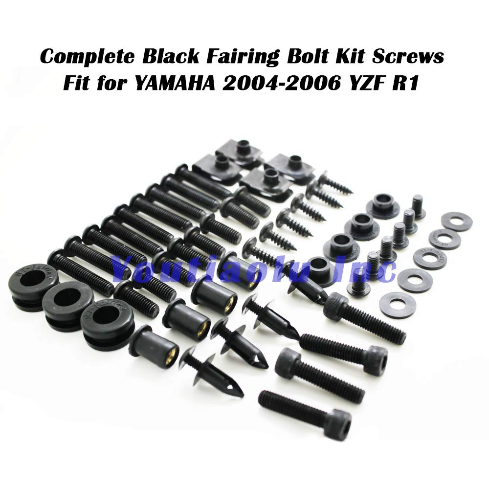 Full Set Bodywork Screws//Fastenings//Mounting Kits Xitomer Complete Fairing Bolts Silver for Yamaha YZF-R6 2008-2016