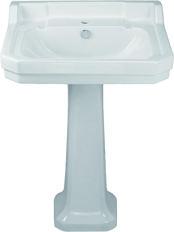 China series large single bowl single hole bath sink with pedestal