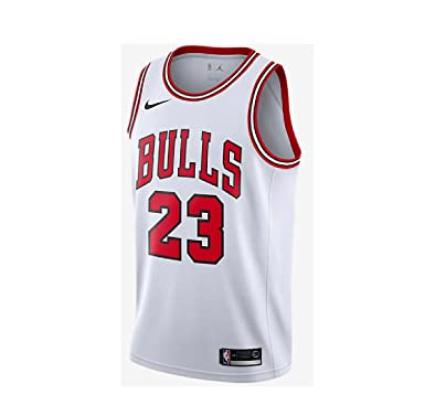more photos 01819 9b687 NIKE Swingman Chicago Bulls White Jersey Michael Jordan #23 ...