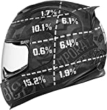 Icon Airframe Statistic Helmet, Distinct Name: Black, Gender: Mens/Unisex, Helmet Category: Street, Helmet Type: Full-face Helmets, Primary Color: Black, Size: 2XL XF-2-0101-7234