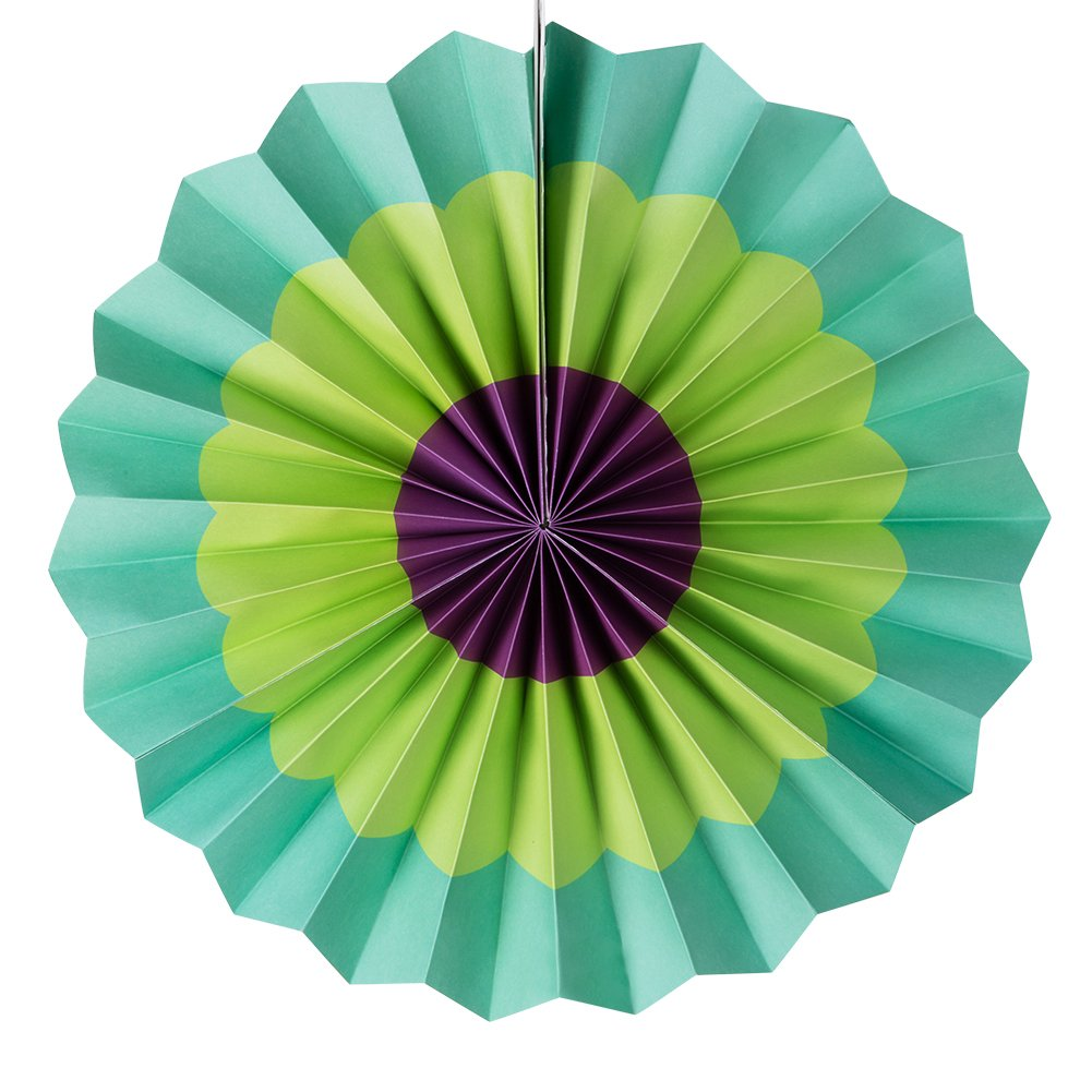 MOWO Hanging Paper Fan Set for Wedding/ Christmas Decoration, Home Decor Supplies Flavor(Assorted Color, 12 pcs) by MOWO (Image #4)