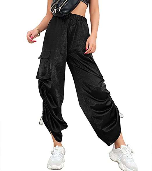 Caige Pantalones de chándal Ocasionales de Las Mujeres, Moda Hip ...