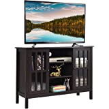 """Tangkula Wood TV Stand, Classic Design Storage Console Free Standing Cabinet for TV up to 50"""", TV Cabinet Media Center Home L"""