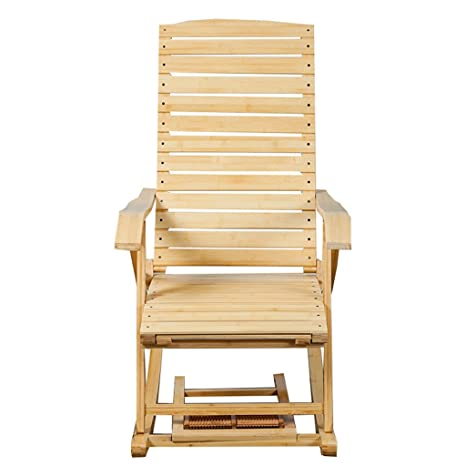 XITER Muebles Silla relajante de bambú portátil con ...
