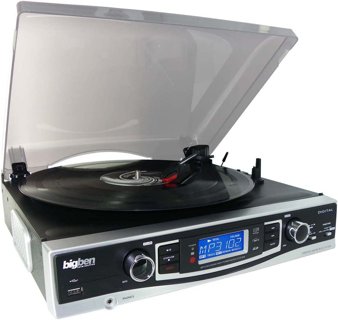 BigBen Interactive TD 84 N - Equipo de sonido con tocadiscos (con ...