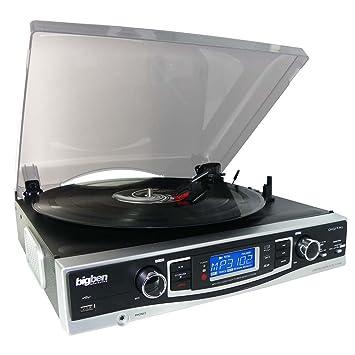 BigBen Interactive TD 84 N - Equipo de sonido con tocadiscos ...