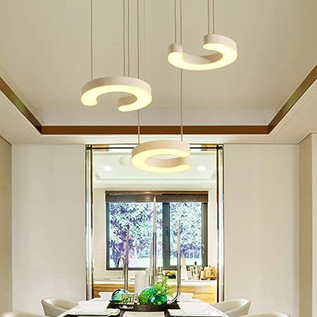Moderna lámpara colgante de acrílico con luz LED de estilo contemporáneo, elegante, ajustable, montaje a media altura, lámpara de techo para comedor,