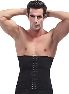 a377e5432d8 Panegy Men s Waist Trainer Girdle Mesh Beer Belly Trimmer with Adjustable  Hooks