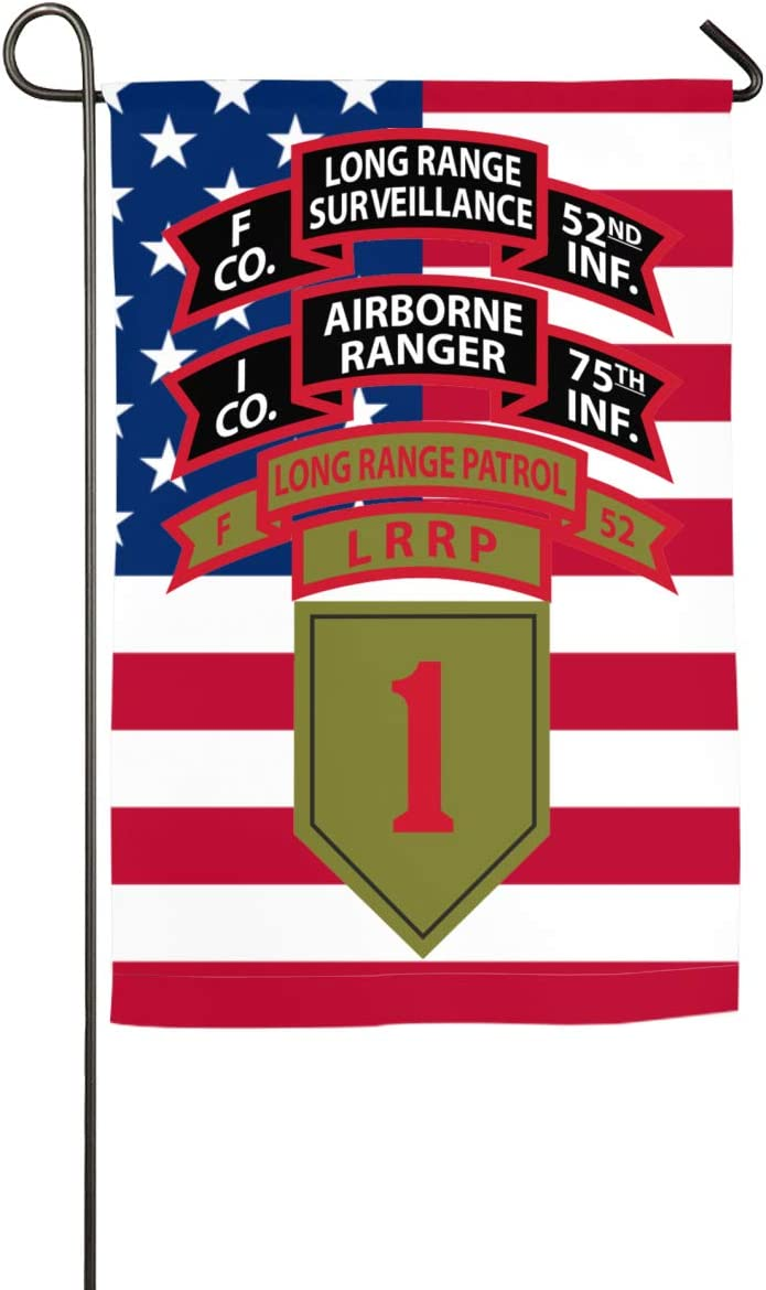 1-75 RGR & F-52 LRP & 1st ID LRRP & 1st ID LRS Yard Flag Patio Garden Flags Outdoor Banner 18 27inch