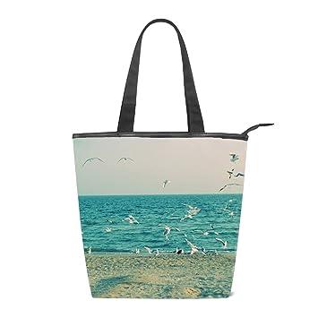 Amazon.com: Bolso de hombro de lona para mujer, playa, playa ...