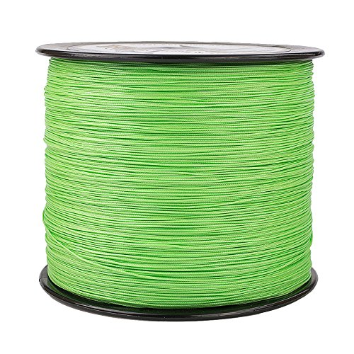 HERCULES Super Cast 1000M 1094 Yards Braided Fishing Line 100 LB Test for Saltwater Freshwater PE Braid Fish Lines Superline 8 Strands - Fluorescent Green, 100LB (45.4KG), 0.55MM