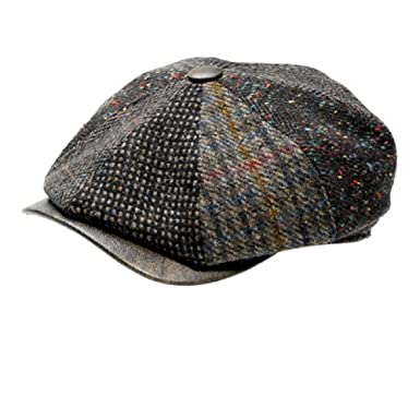 9386cfc6171 Wigens Gustav 8 4 Limited Edition Patchwork With a Leather Peak Ivy Cap (58