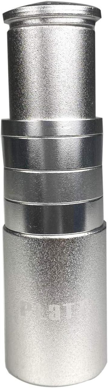 Extensor de Manillar de Bicicleta de aleaci/ón de Aluminio para Tubos de direcci/ón sin Rosca de 1 1//8 Pulgadas PLATT