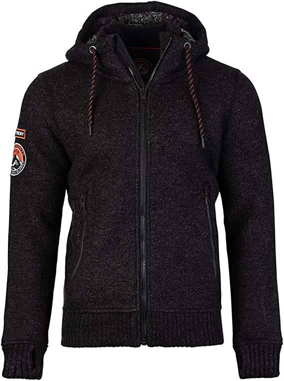 Superdry Expedition Ziphood in BlackCharcoal Twist XX Large