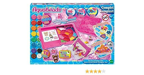 AQUABEADS 32499 - Coffret De Creation Chic - plus de 1000 perles de 16 couleurs: Amazon.es: Juguetes y juegos