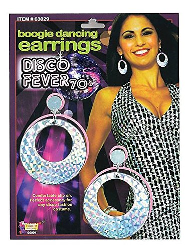 Forum Novelties 63029 Disco Boogie Dancing Earrings
