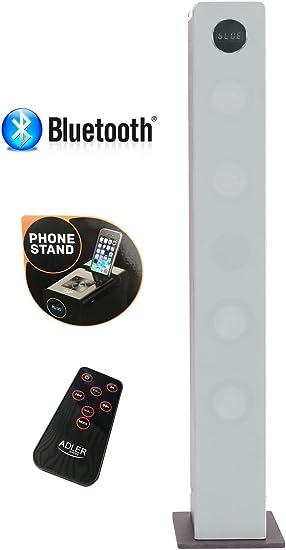 2 1 Sound Tower Lautsprecherturm Musikanlage Musiksystem Kompaktanlage Bluetooth Hi Fi Musikanlage Soundsystem Usb Sd Card Fernbdienung Turmlautsprecher Silber Audio Hifi