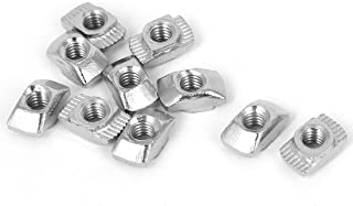 PZRT 2020 Series 50-Pack M4 T-Nuts,Carbon Steel Nickel-Plated Half Round Roll in Sliding T Slot Nut 6mm Slot Aluminum Profile Accessories
