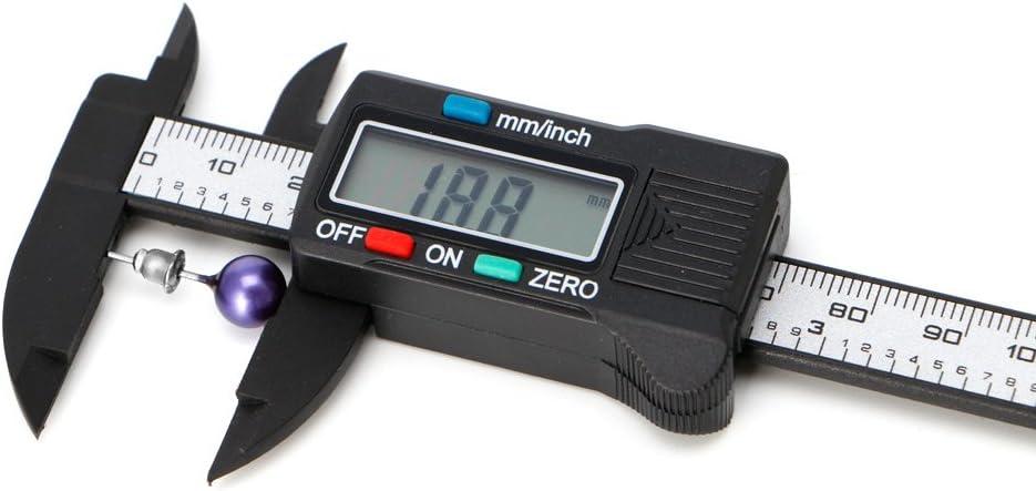LCD Electronic Digital Vernier Caliper Gauge Measure Stone Bead Gem Jewelry Tool