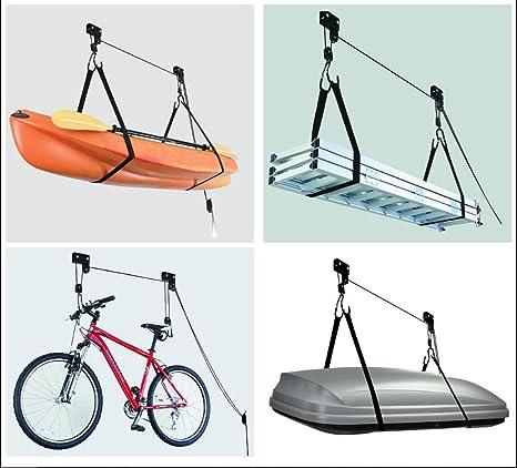 Elevador de techo para bicicletas, 45 kg, soporte de garaje para ...