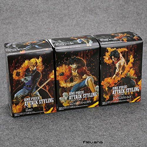 Amazon.com: Nime una pieza ataque estilo Luffy + Sabo + Ace ...