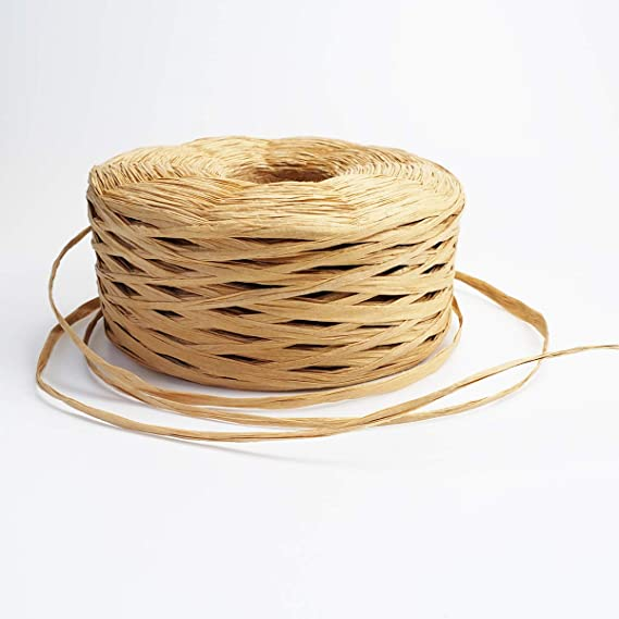JIALU 328 Yards Raffia Paper Craft Ribbon Packing Paper Twine for Festival Gifts DIY Decoration and Weaving