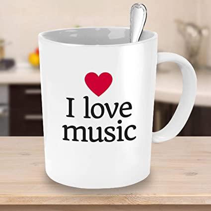 Amazoncom I Love Music Mug Novelty Coffee Mug Music Teacher Gift