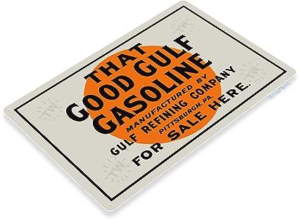 Amazon com: Tinworld Tin Sign 12X18 Gulf Good Gasoline Oil Gas Metal