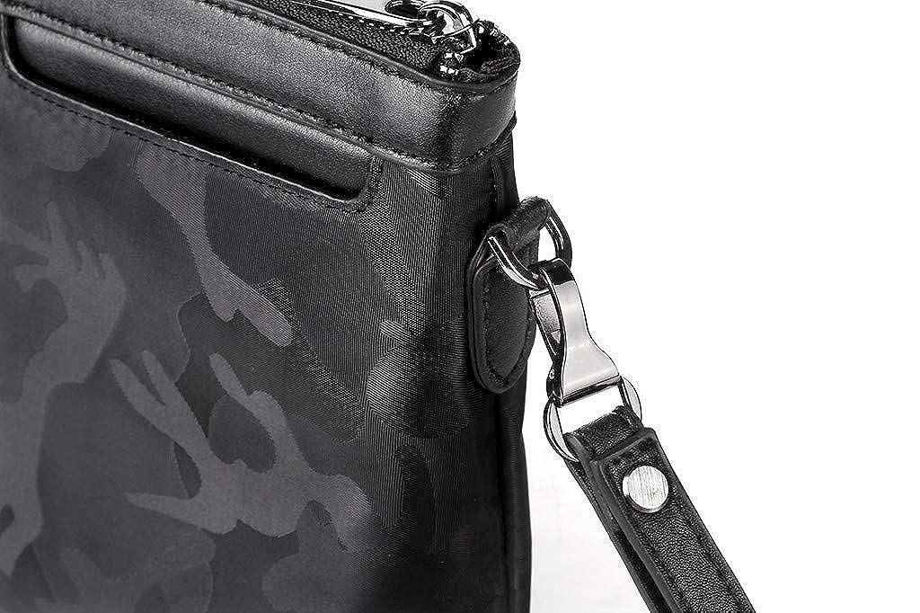 KEYIA Hommes Tissu Oxford Pochette Camouflage Casual Sac /à Main Enveloppe Sac