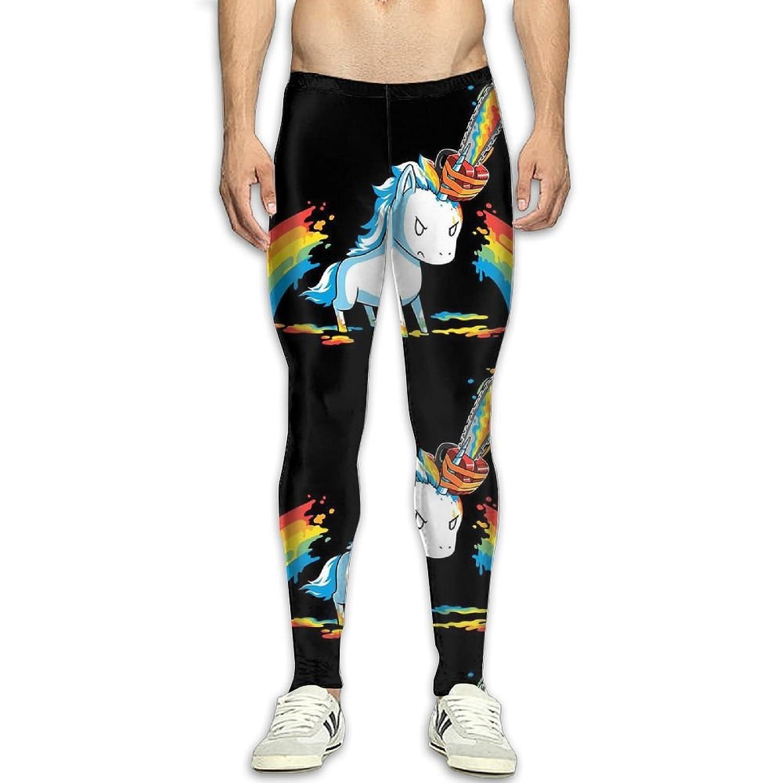 77ef87b6f066b DOPYYDB Men's Compression Pants Baselayer Running Tights Chainsaw Rainbow  Unicorn 3D Print Fitness Sports Leggings