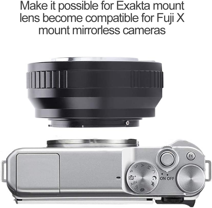 Acouto EXA-FX Manual Focusing Adapter Ring for Exakta Lens for Fuji X Mount Mirrorless Cameras