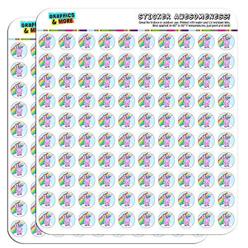 Unicorn Calendar Scrapbooking Crafting Stickers