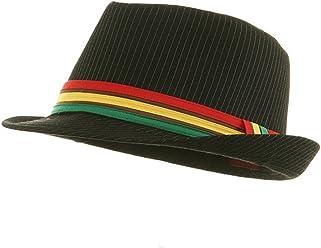 MinLee Star Vivian Rasta Fedora Hat - Black Pinstripe W19S46D 9ced12c571c1