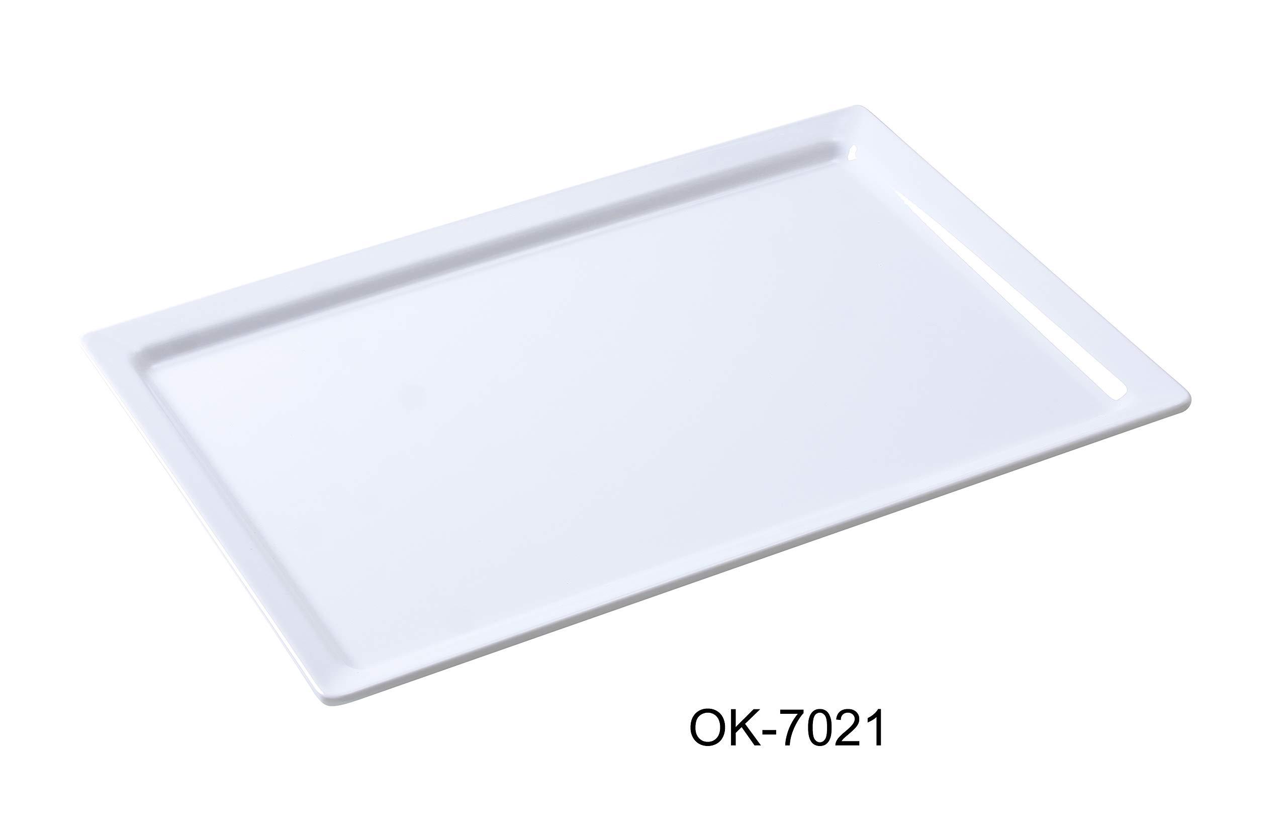 Yanco OK-7021 Osaka-2 Display Plate, Rectangular, 21'' Length, 13'' Width, Melamine, White Color, Pack of 6 by Yanco (Image #2)