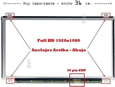 IFINGER Pantalla para Huawei Book D PL-W09 TV156FHM-NH0 30 ...