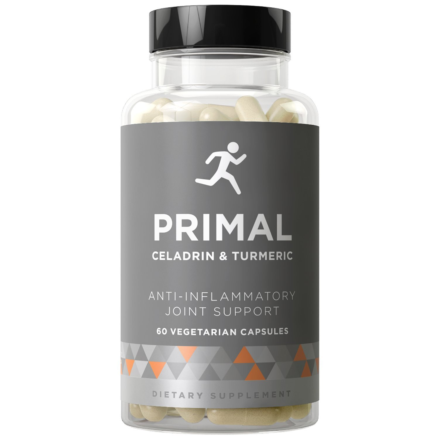 PRIMAL Joint Support & Anti-Inflammatory - Flare-Ups, Swelling, Stiffness, and Whole-Body Inflammation - Celadrin, Curcumin, Boswellia - 60 Vegetarian Soft Capsules
