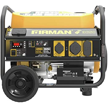 Firman P03603 Performance Series 3650/4550 Watt Gas Powered Portable Remote Start Generator With Wheel Kit