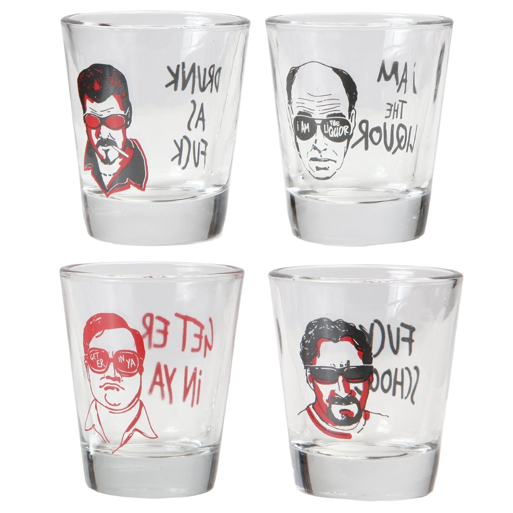 Trailer Park Boys Julian Ricky Bubbles Lahey Shot Glasses - Set of 4