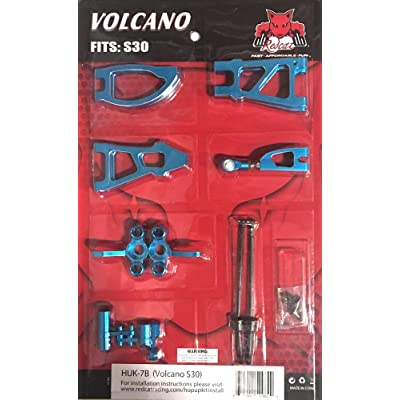 Redcat Racing HUK-7B Volcano S30 Hop Up Kit, Blue: Toys & Games
