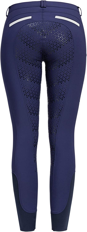 RidersDeal RidersDeal Collection Pantalon d/équitation pour femme avec bordure en silicone et pochette pour t/él/éphone portable FR:38 vert fonc/é