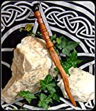 """10.5"""" Ritual Athame Woodturned and Handcrafted from Bubinga Wood & Irish Bog Oak Altar tool Witch Wicca Pagan"""
