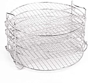 Dehydrator Stand for Ninja Foodi, Stainless Steel Dehydrator Rack Accessories for Ninja Foodi Pressure Cooker and 6.5 and 8 Qt Air Fryer