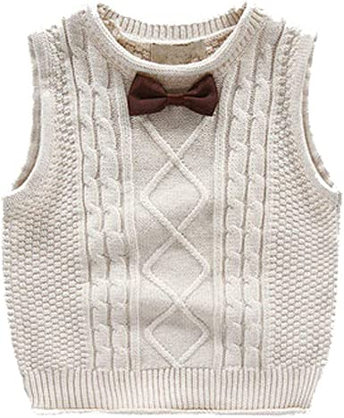Toddler Baby Boy Cable Knit Pullover Sweater 2-5t Little Kid Gentleman