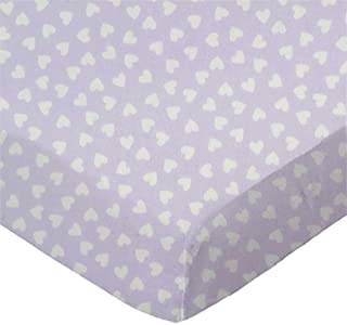 product image for SheetWorld Fitted Cradle Sheet - Hearts Pastel Lavender Woven - Made In USA