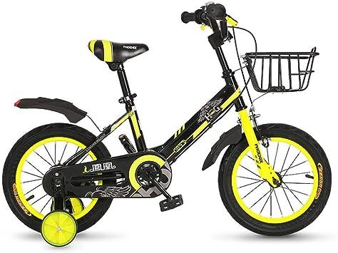 TSDS Bicicleta Infantil Bicicleta roja/Azul/Amarilla de Moda Bicicleta de montaña de 12 Pulgadas para Bicicletas al Aire Libre (Color : B): Amazon.es: Deportes y aire libre